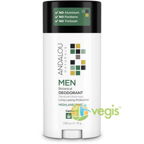 andalou naturals deodorant solid pentru barbati cu aroma de pin 75g 69025